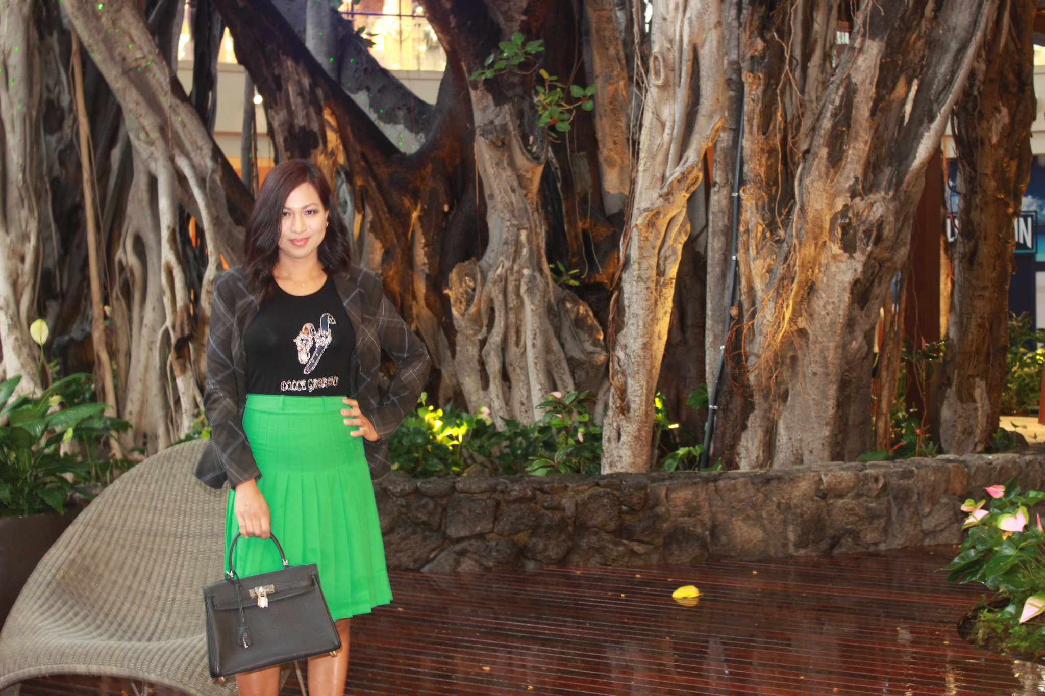 Green Tone Pleated Skirt – Fun and Flirty!