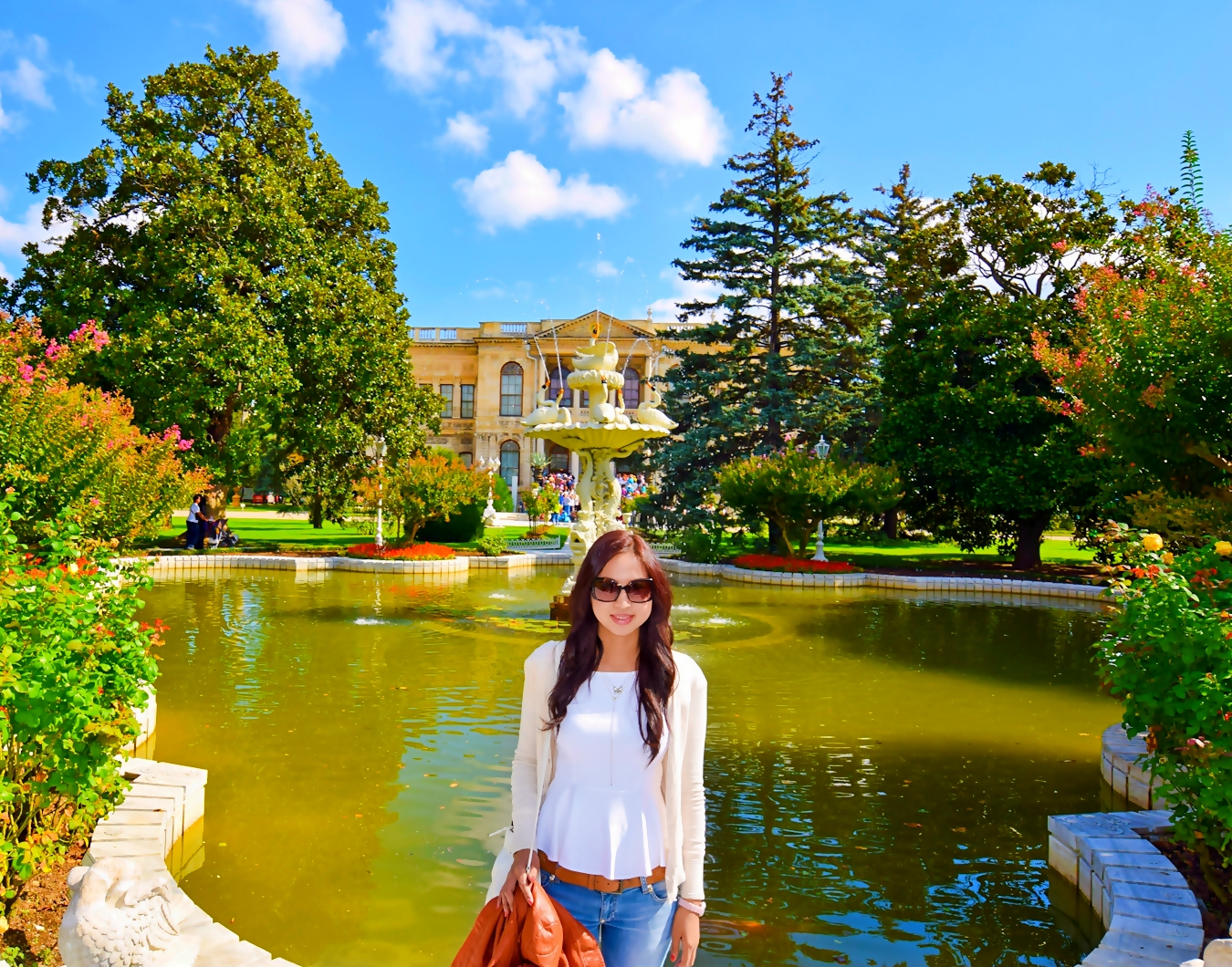 Dolmabahce Palace in Istanbul Turkey