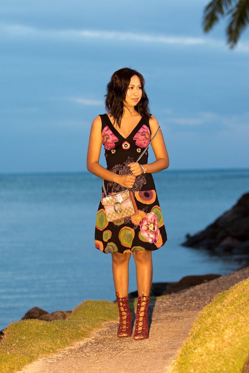 Desigual dress and Gucci bag