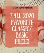 Top Favorite Classic and Basic Fall Style in 2020